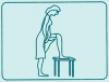 The easiest way to insert the sponge is in standing position with one leg placed on a chair